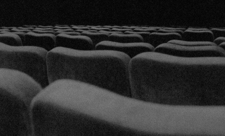 A row of seats at a theatre