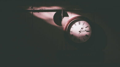 A clock on a wall