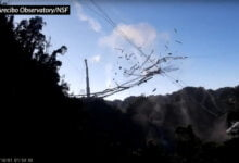 Photo of Arecibo Telescope Collapses After Weeks Of Uncertainty