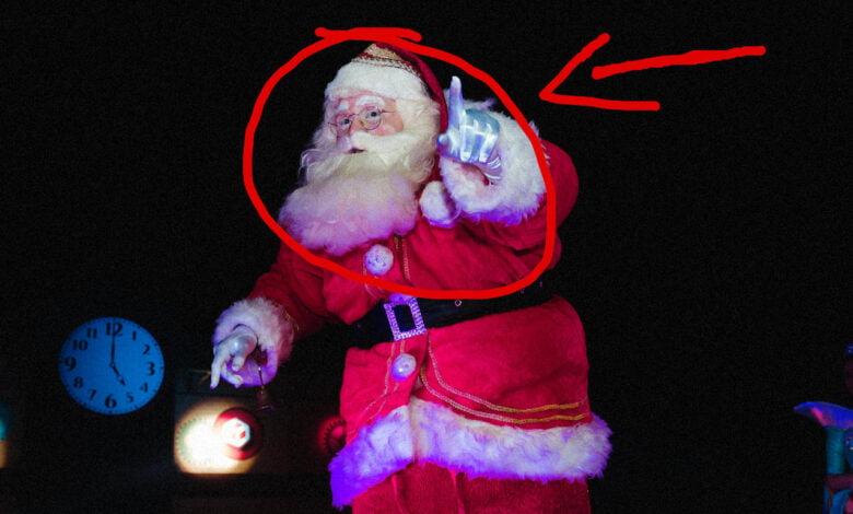 Santa Claus Caught In Action
